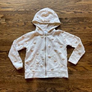 Crewcuts Hooded Sweatshirt With Gold Kisses